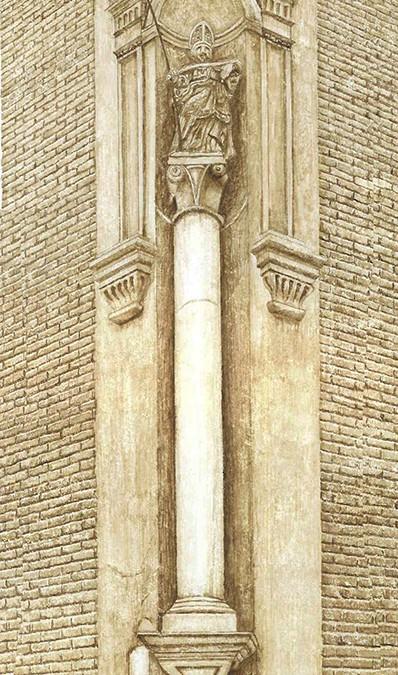 Columna de la Iglesia de San Nicolás.
