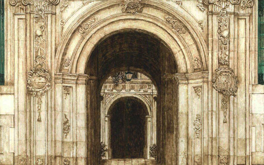 Detalle de la puerta del Obispado de Murcia.