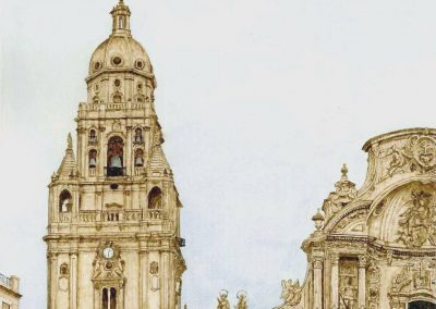 Detalle torre de la Catedral.
